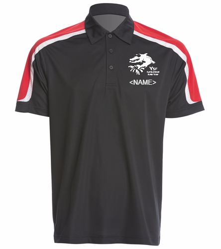 YSF Barracudas Men's Tech Polo - SwimOutlet Men's Tech Polo