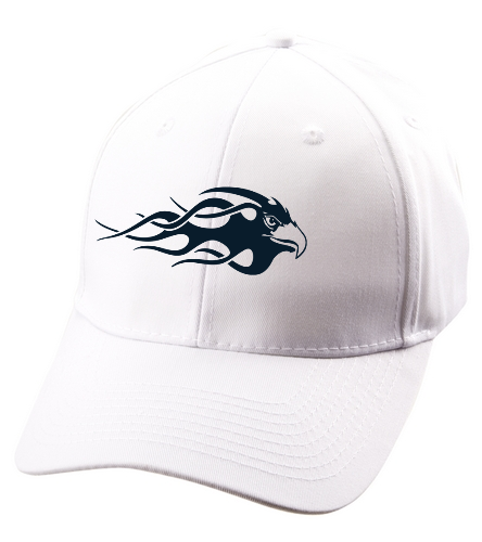 Blue Eagle Swim Team - White  - SwimOutlet Unisex Performance Twill Cap