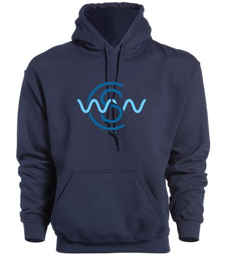 WWSC Navy Hoodie - SwimOutlet Heavy Blend Unisex Adult Hooded Sweatshirt