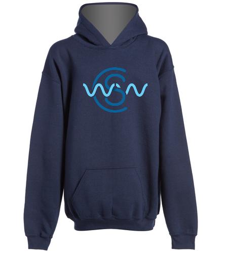 WWSC Navy Hoodie - SwimOutlet Youth Heavy Blend Hooded Sweatshirt