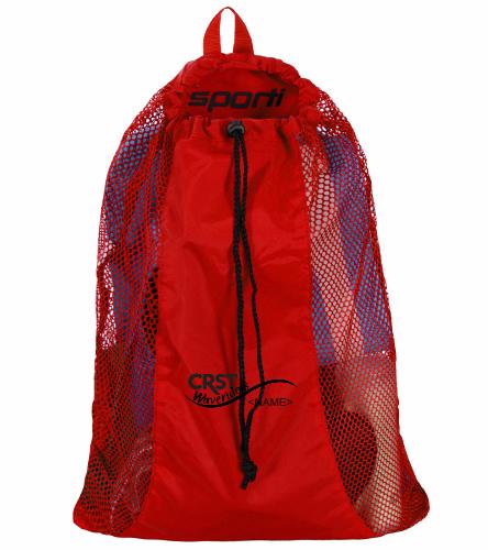 CRST Red - Sporti Premium Mesh Backpack