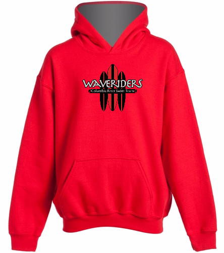 Youth CRST Red - SwimOutlet Youth Heavy Blend Hooded Sweatshirt