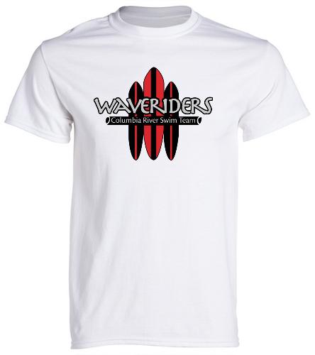 CRST Board T-shrit White - SwimOutlet Cotton Unisex Short Sleeve T-Shirt