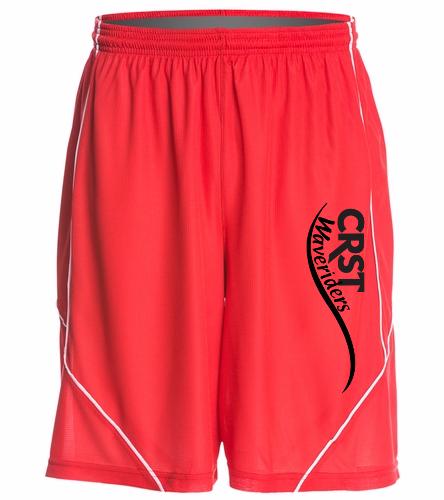 CRST Red - SwimOutlet Men's Mesh Short