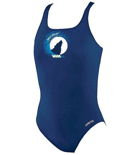WVA Girls- Team Suit - Arena Girls' Madison Athletic Thick Strap Racer Back One Piece Swimsuit