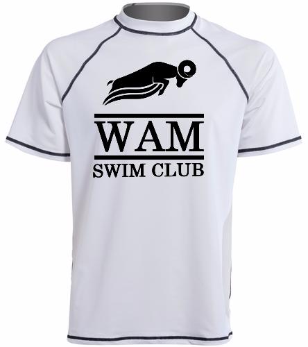 WAM T-Shirt White - Sporti Men's S/S UPF 50+ Swim Shirt