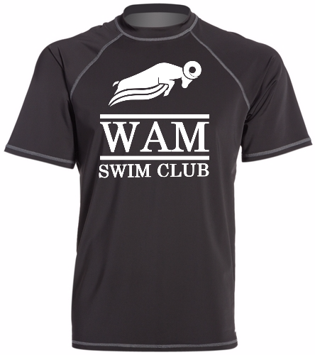 WAM T-Shirt (Black) - Sporti Men's S/S UPF 50+ Swim Shirt