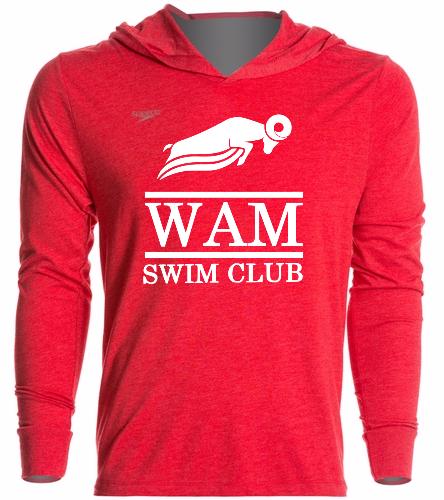 WAM Hoodie (Red) - Speedo Unisex Pull Over Hoodie