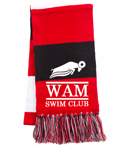WAM Scarf (Red) - SwimOutlet Spectator Scarf