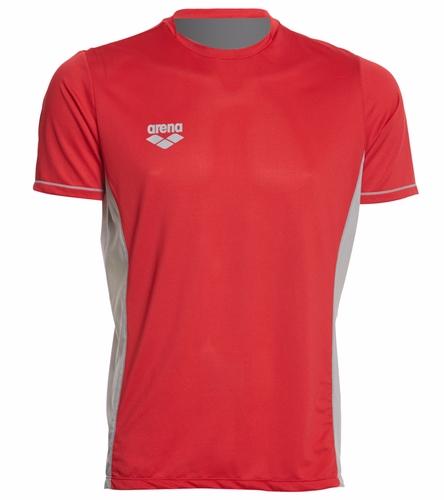 WAM T-Shirt (Red) - Arena Men's Team Line Crew Neck Short Sleeve Tech T Shirt