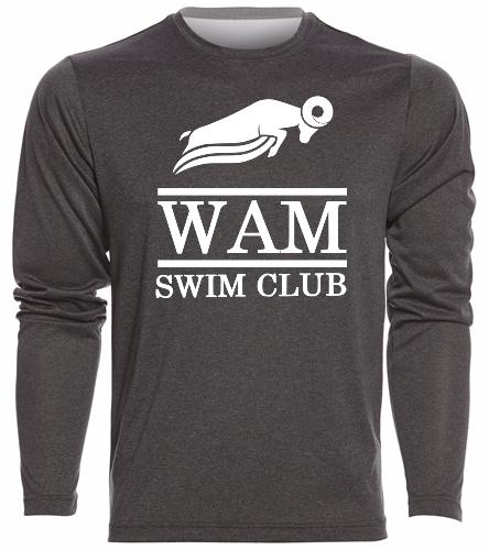 WAM Long Sleeve T-Shirt - SwimOutlet Men's Long Sleeve Tech T Shirt