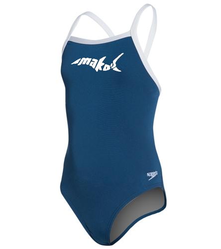 Female Youth Endurance Flyback - Speedo Girls' Solid Endurance + Flyback Training Swimsuit