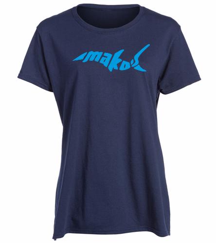 Navy Missy Fit - SwimOutlet Women's Cotton Missy Fit T-Shirt