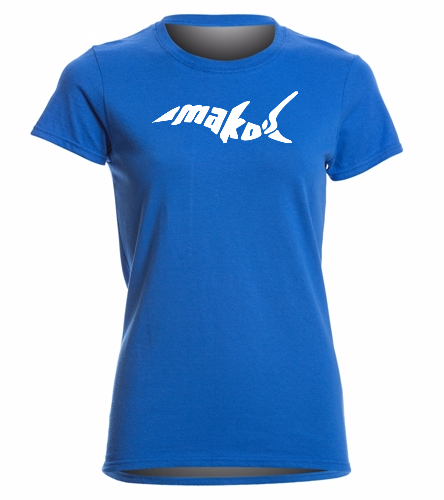 Royal Missy Fit Shirt - SwimOutlet Women's Cotton Missy Fit T-Shirt