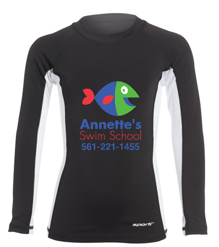 Annette's Swim School - Sporti Youth Unisex L/S UPF 50+ Sport Fit Rash Guard