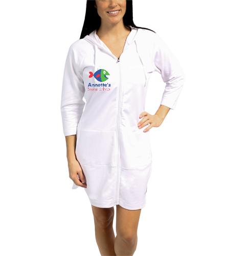 Annette's Swim School White - Speedo Aquatic Fitness Robe with Hood