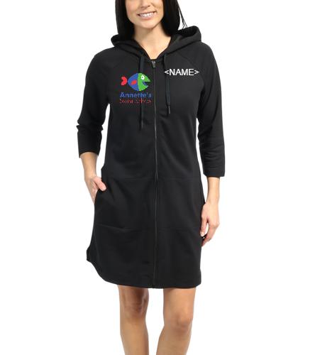 Annette's Swim School Black - Speedo Aquatic Fitness Robe with Hood