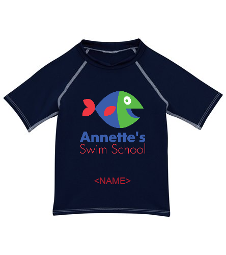 Annette's Swim School - Dolfin Unisex Kids' Rashguard (2T-7)