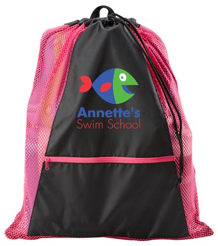 Annette's Swim School Pink&Black - Sporti Premium Color Block Mesh Backpack