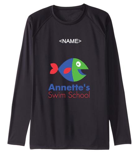 Annette's Swim School - Sporti Men's Solid L/S UPF 50+ Sun Shirt