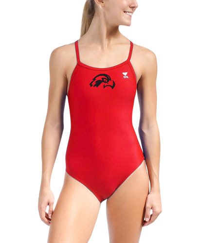 Osprey Logo in Black on Red TYR Swimsuit - TYR Solid Diamondfit One Piece Swimsuit