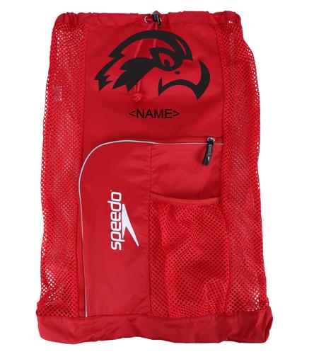 Osprey Logo in Black on Red Speedo Deluxe Mesh Bag - Speedo Deluxe Ventilator Mesh Bag