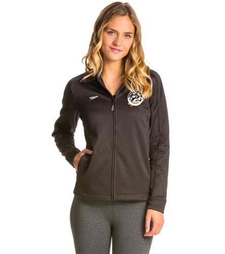SAS Logo Black Female Speedo Streamline Warm Up Jacket - Speedo Streamline Female Warm Up Jacket
