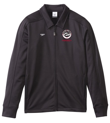 SAS Logo Men's Black Speedo Streamline Warm Up Jacket - Speedo Streamline Male Warm Up Jacket