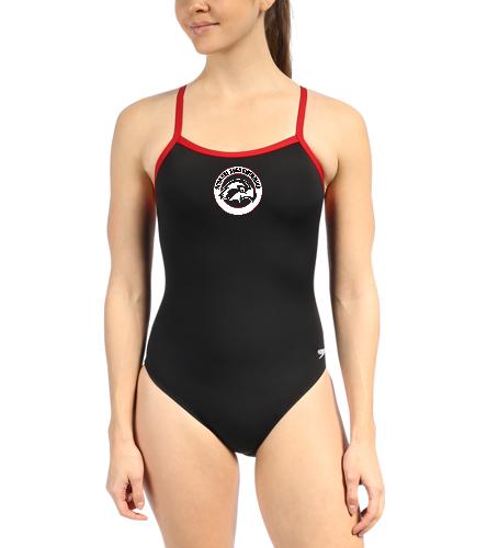 SAS Logo Speedo Swimsuit - Speedo Solid Endurance + Flyback Training One Piece Swimsuit