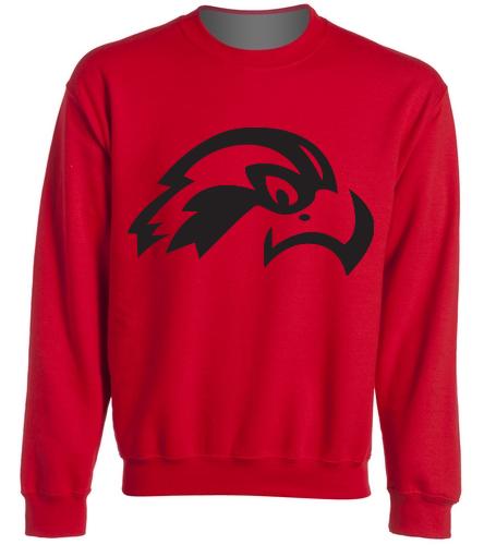 Osprey Logo in Black on Adult Crewneck Sweatshirt - SwimOutlet Heavy Blend Unisex Adult Crewneck Sweatshirt