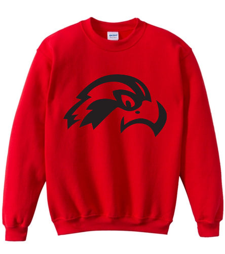 Osprey Logo in Black on Red Youth Crewneck - SwimOutlet Heavy Blend Youth Crewneck Sweatshirt
