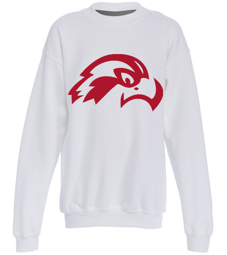 Osprey Logo in Red on White Youth Crewneck - SwimOutlet Heavy Blend Youth Crewneck Sweatshirt