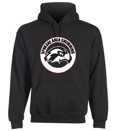 SAS Logo Adult Hooded Sweatshirt - SwimOutlet Heavy Blend Unisex Adult Hooded Sweatshirt