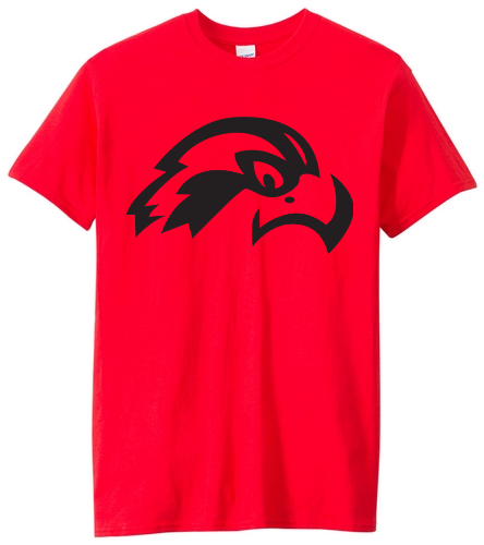 Osprey Logo Adult T-shirt (red) - SwimOutlet Men's Cotton Crew Neck T-Shirt