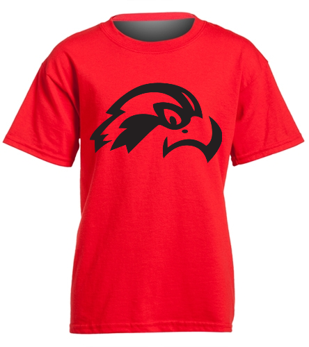 Osprey Logo in Black on Red Youth T-Shirt - SwimOutlet Youth Cotton Crew Neck T-Shirt