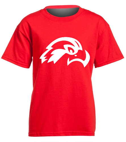Osprey Logo in White on Red Youth T-Shirt - SwimOutlet Youth Cotton Crew Neck T-Shirt