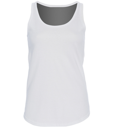 Osprey Logo in Red on Back Ladies Tank - SwimOutlet Women's Cotton Racerback Tank Top