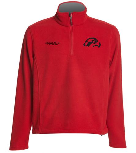 Osprey Logo on Red 1/4 Zip Pullover - SwimOutlet Adult Unisex Fleece 1/4-Zip Pullover