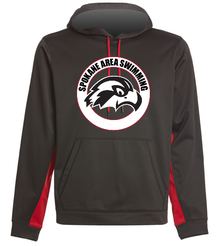 SAS Logo Front Hooded Pullover - SwimOutlet Sport-Wick® Fleece Colorblock Hooded Pullover