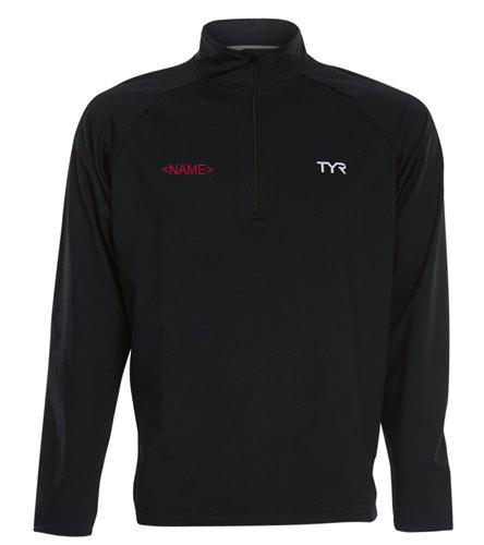 Osprey Logo in Red on Back of Men's TYR Alliance 1/4 Zip Pullover - TYR Men's Alliance 1/4 Zip Pullover Jacket