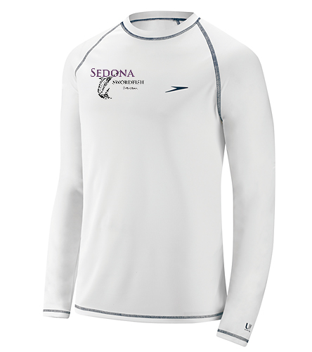 Long Sleeve White Mens - Speedo Men's Easy Long Sleeve Swim Shirt