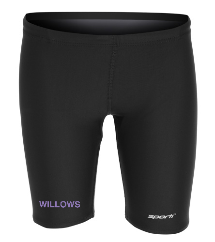WILLOWS - Sporti Solid Compression Jammer Swimsuit Youth (22-28)