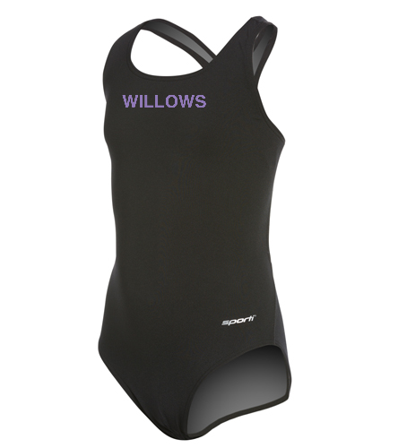 Willows YOUTH Team Suit  - Sporti Poly Pro Solid Wide Strap One Piece Swimsuit Youth (22-28)