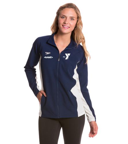 Women's - Logo on back  - Speedo Women's Boom Force Warm Up Jacket