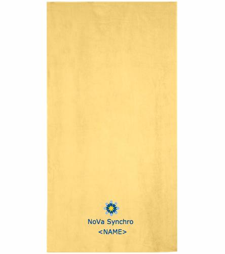NVS team towel - Royal Comfort Terry Velour Beach Towel 32 X 64