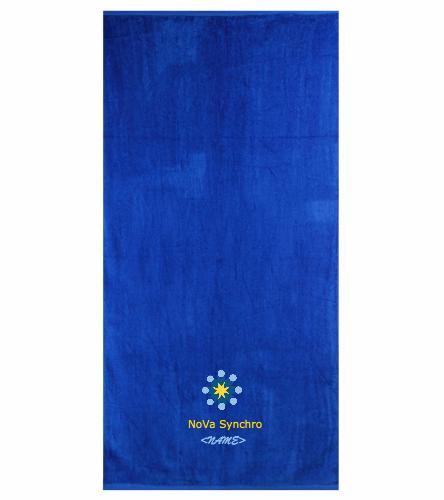 NVS blue towel - Royal Comfort Terry Velour Beach Towel 32 X 64