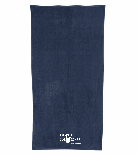 Navy Towel - Royal Comfort Terry Velour Beach Towel 32 X 64