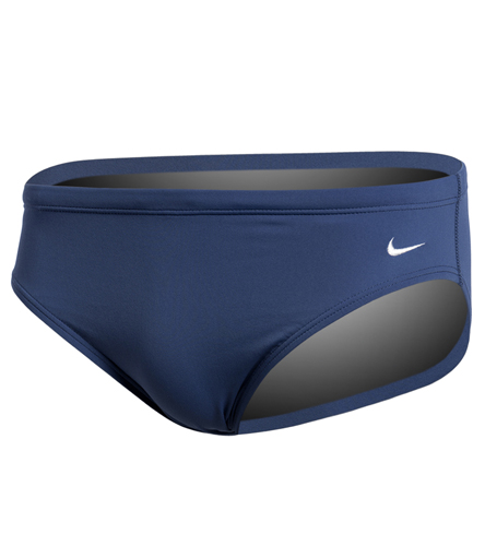 Solid Navy Men's Suit - Nike Men's Solid Poly Brief Swimsuit