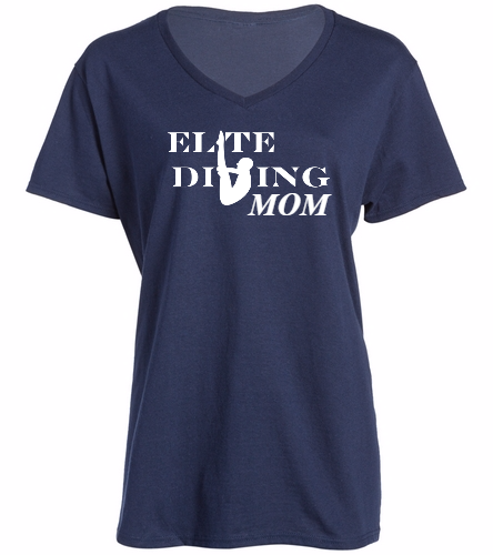 NEW Elite Dive Mom - SwimOutlet Women's Cotton V-Neck T-Shirt