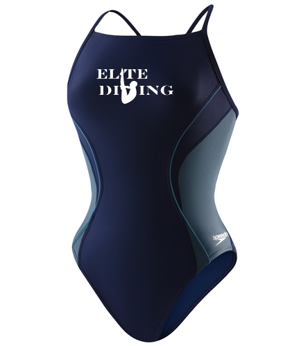 Elite Women's Suit - Speedo Women's PowerFLEX Eco Revolve Splice Energy Back One Piece Swimsuit